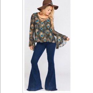 NEW Show Me Your MuMu Peacock Zuko Top Size XS